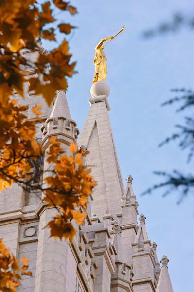 Moroni - Salt Lake Temple Photograph