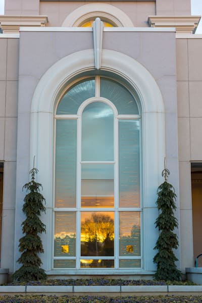 Reflect Light - Timpanogos Utah Temple Window Art