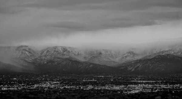 Stormy Sandias & City Lights| d'Ellis Photographic Art photographs, Bill
