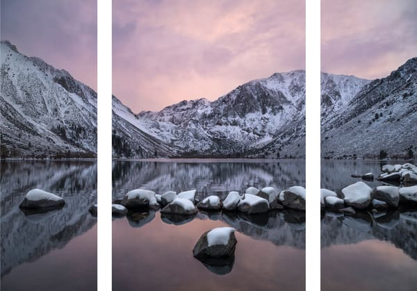 Winter sunset at Convict Lake