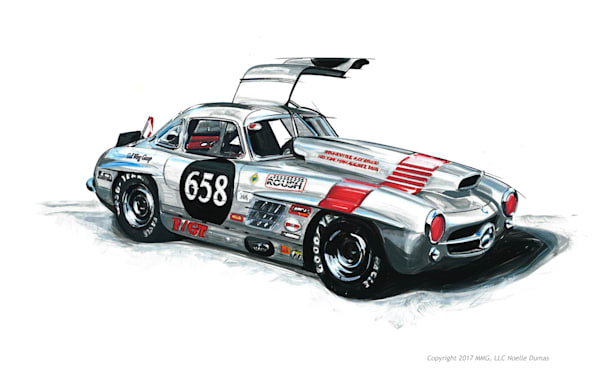 Mercedes Gullwing racecar