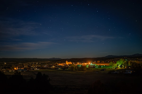 Autumn, Landscape, Photography, Southwest, Nightscape, Nocturne, Los Ojos, New Mexico