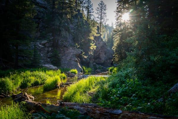 Landscape, Jemez Wilderness, Jemez River, Dawn, Morning, Southwest, New Mexico