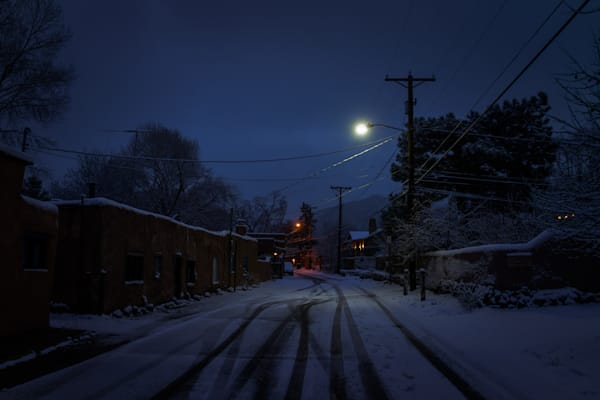 Landscape, New Mexico, Photography, Santa Fe, Southwest, nocturne, winter, nightscape