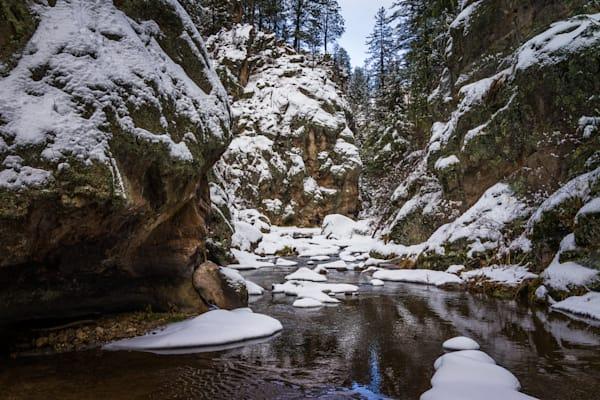 Winter Jemez River Canyon 7553 Art   jonathankeeton