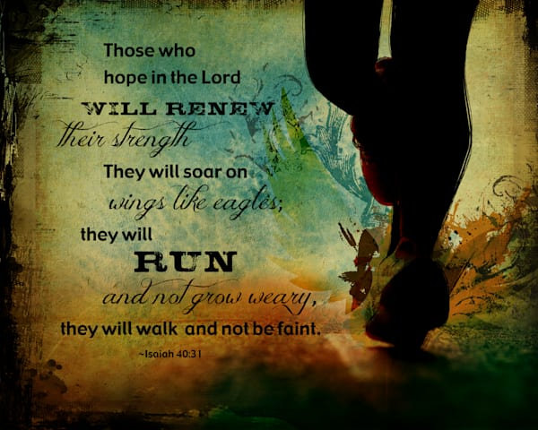 RUN (Isaiah 40:31) {Horizontal}
