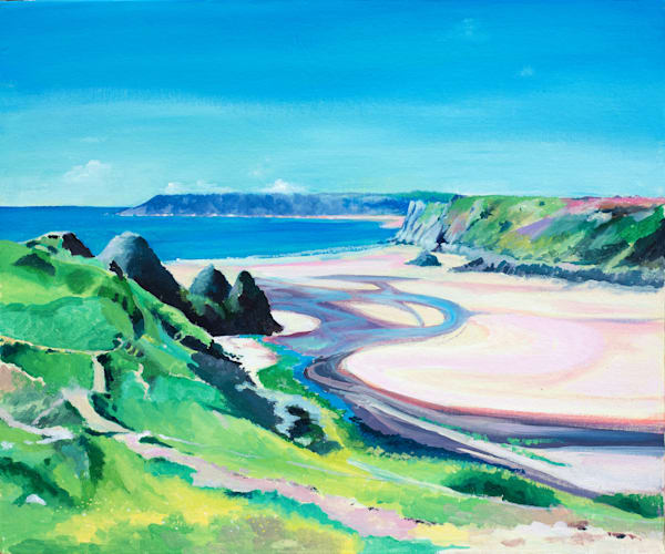 Art print Three Cliffs Bay, Gower