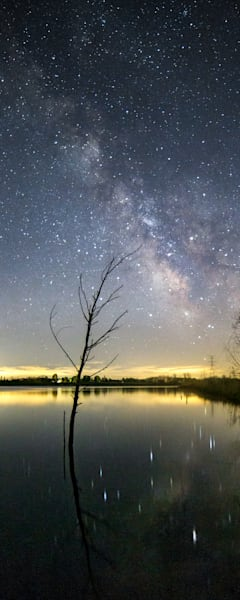 Milky Way Over Crandell Lake - Charlotte, MI
