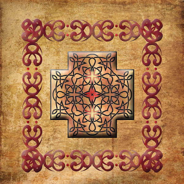 Celtic Square Cross Framed Art paintings for sale | Grimalkin Studio