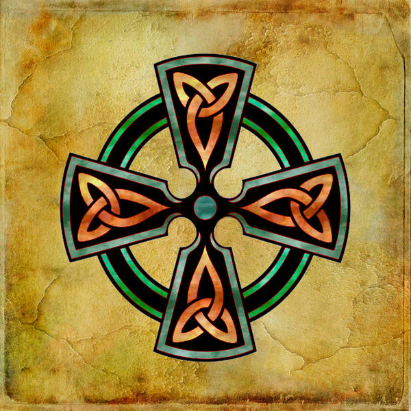 Watercolor Celtic Cross Art for sale | Grimalkin Studio
