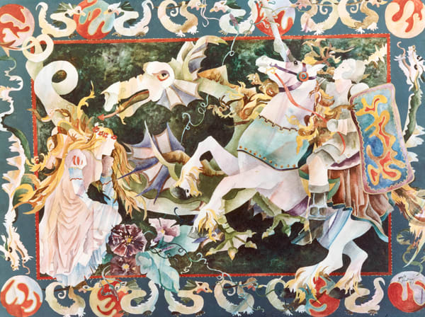 Gayle Faulkner's water color depicting the Renaissance period of history.
