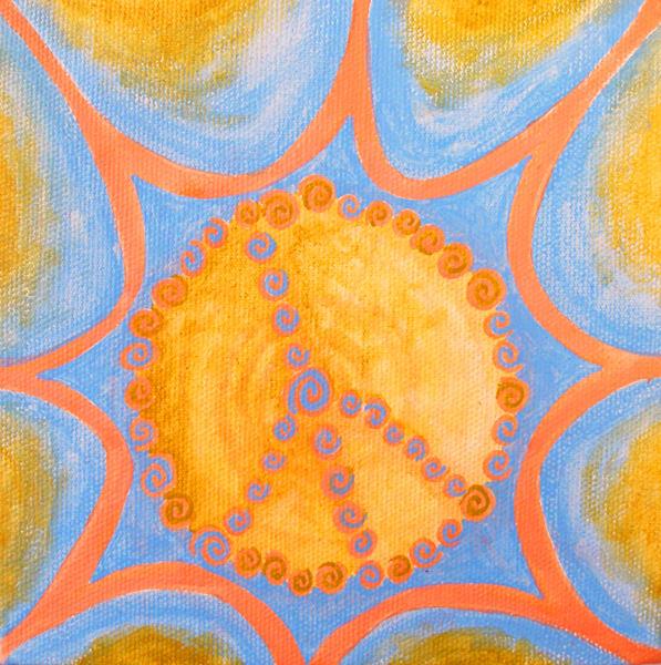 Inner Peace original oil painting by Paula Manning-Lewis