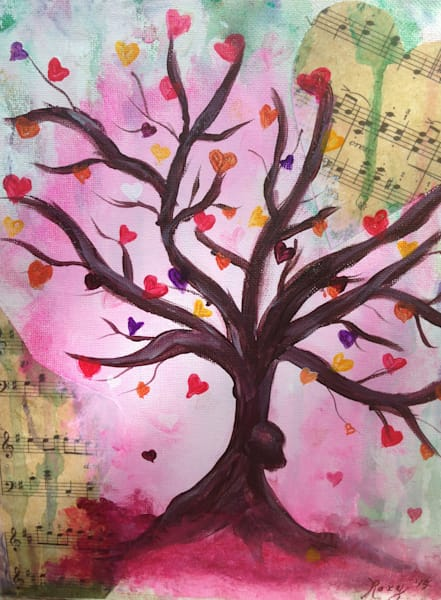Hearts and Music Tree