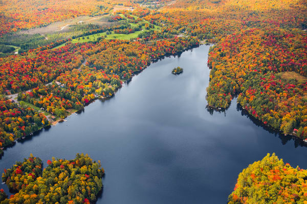 6th lake Fall Aerial