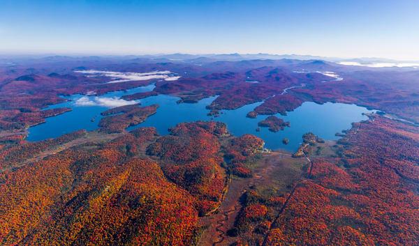 Raquette Lake Fall Aerial