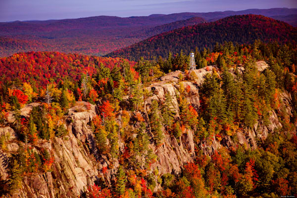 Bald Mountain aerial view in the fall photograph for sale.