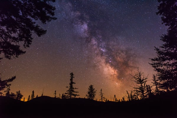 Milky Way Over Bald Mountain Photograph