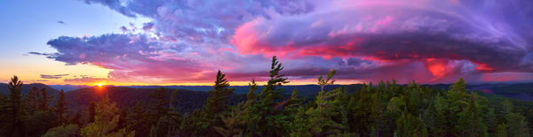 Adk Storm Ultra Wide Panoramic Photography Art | Kurt Gardner Photogarphy Gallery