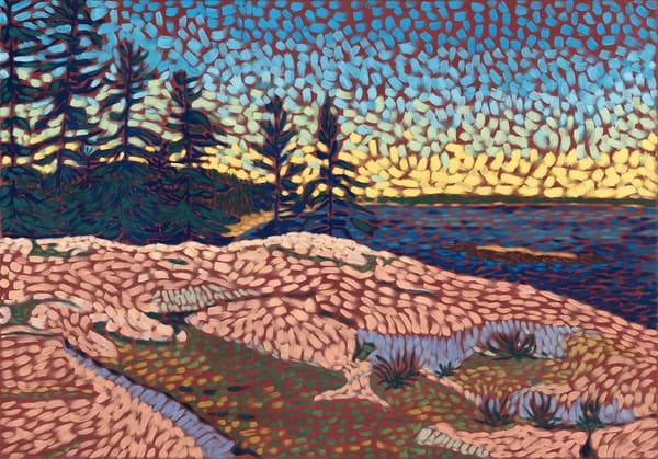 landscape, seascape, art, painting, prints, rocks,