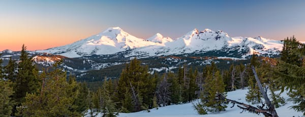 Cascade Triplet (171734LND8-SI) Mountain Scenery Photograph for Sale as Fine Art Print