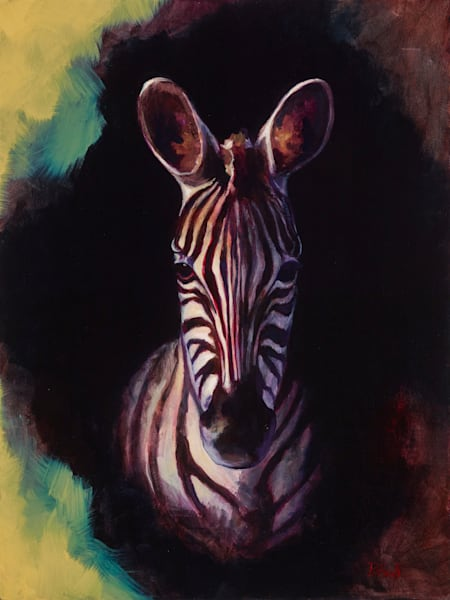 Portrait of a Zebra - wood print