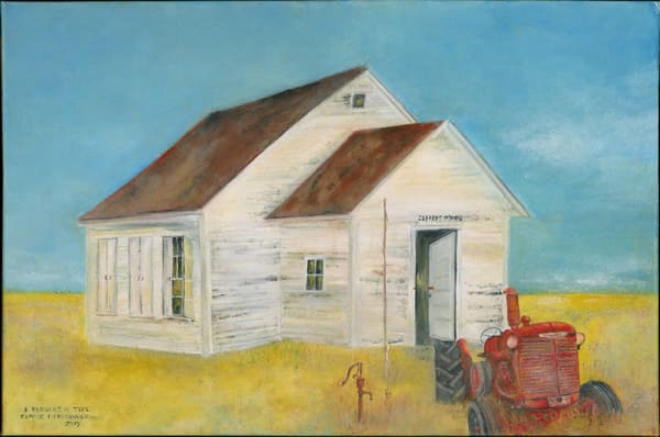 """Remnant In Time - School House"" by Denise Dahlheimer 