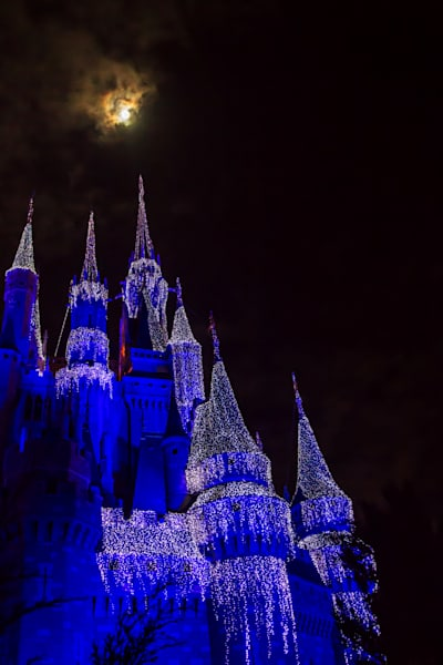 Blue Moon at Disney - Magic Kingdom Art | William Drew