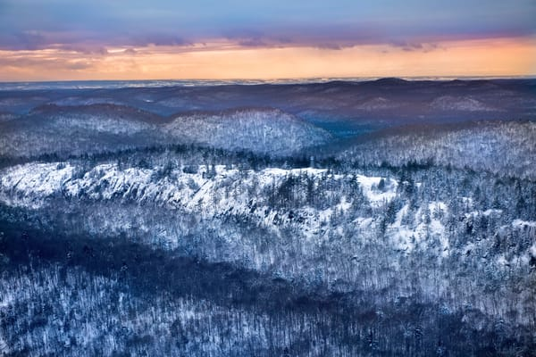 Bald Mt aerial in the winter photograph for sale.
