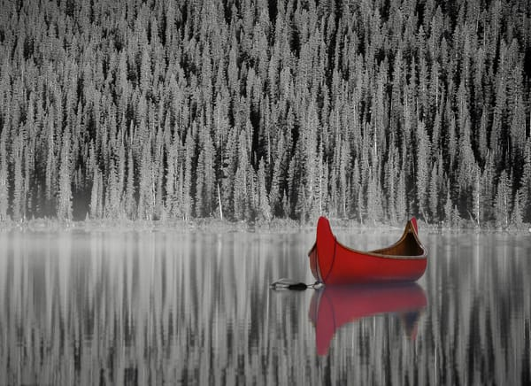 Red Canoe by Matt Jenkins | SavvyArt Market photography