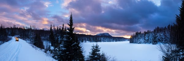 Old Forge Snowmobile Trails Panoramic Photography Art | Kurt Gardner Photogarphy Gallery