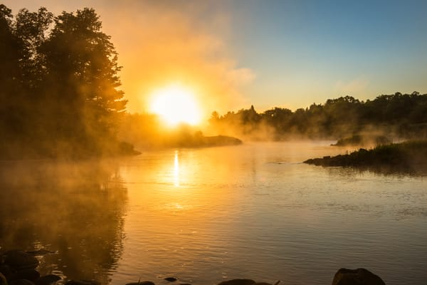 Mckeever Sunrise Over The Moose River