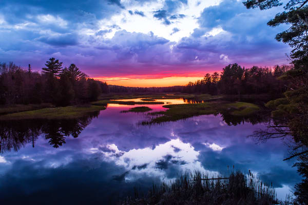 Moose River Sunset Photography Art | Kurt Gardner Photogarphy Gallery