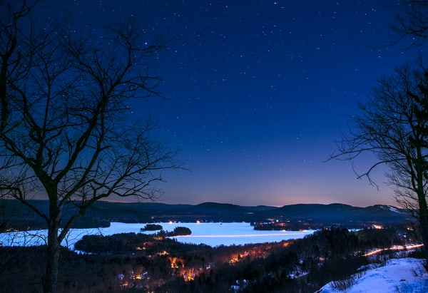 Pete Peak Overlooking 1st And 2nd Lake Photography Art | Kurt Gardner Photogarphy