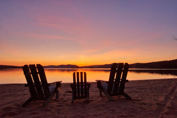 Adirondack Chairs Sunset