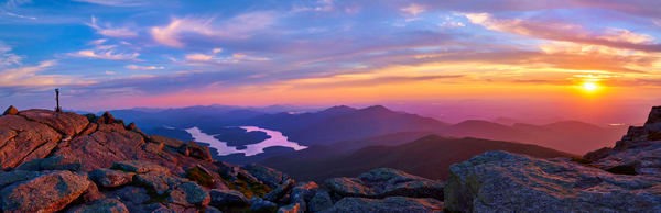 Whiteface Mt Overlooking Lake Placid Panoramic Photography Art | Kurt Gardner Photogarphy Gallery