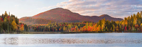 Raquette Lake And West Mt Panoramic