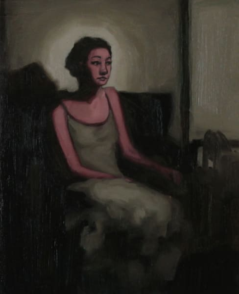 """Shop for original paintings like Waiting For You To Come Home 8"""" x 10"""" oil on canvas by Jeremy Couch at Matt McLeod Fine Art Gallery."""