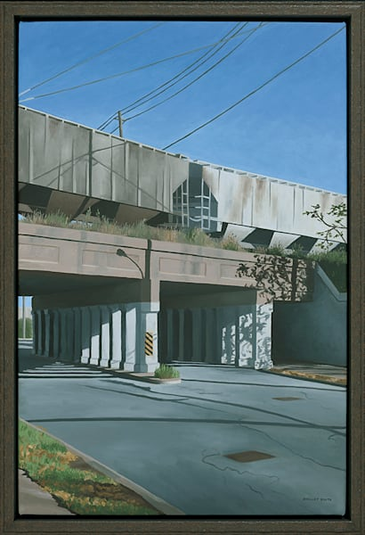 Commerce Converging | Railroad & Streetway | Original Oil Painting | Shelley Smith
