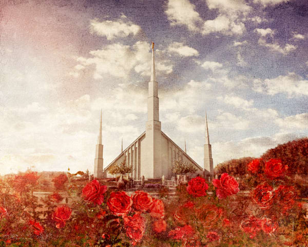 Boise Temple Rose Garden Art | Mandy Jane Williams Art