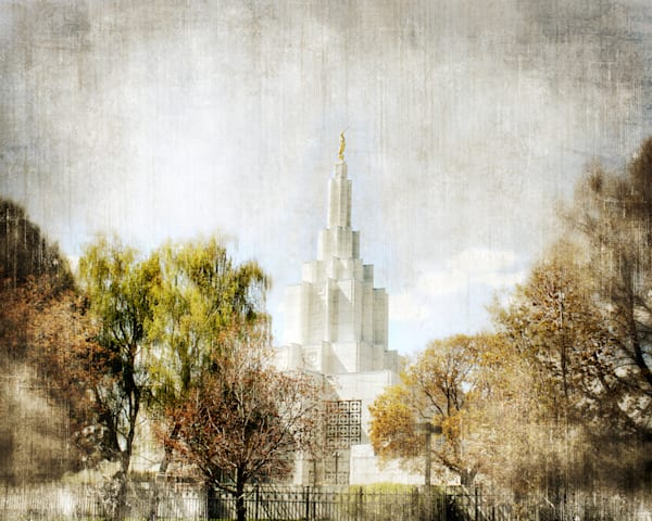 Idaho Falls Temple Peaceful Trees Art | Mandy Jane Williams Art