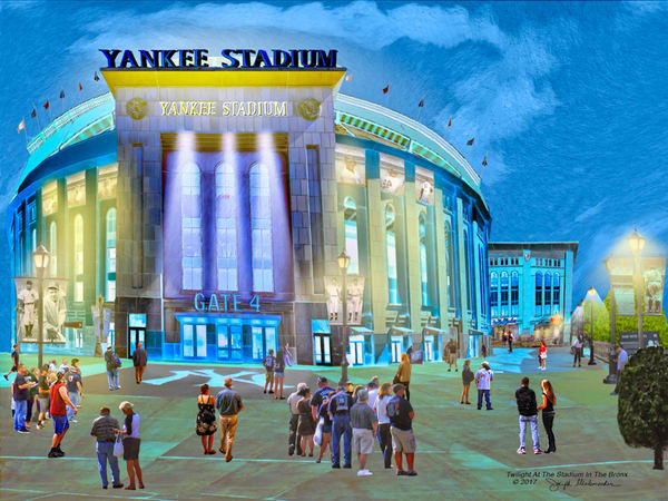 Twilight at Yankee Stadium Canvas Art - The Gallery Wrap Store