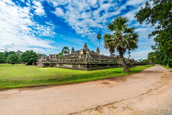 Path to Angkor Wat, coming around from the backside of the main temple