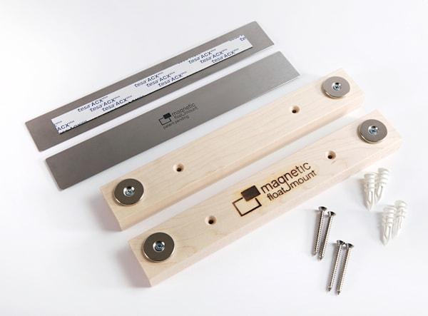 1 pack -  Magnetic Float Mount System  / Hardwood