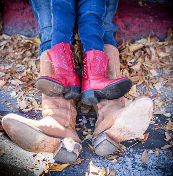 Mother and Daughter Cowboy boots photo for sale by Barb Gonzalez Photography