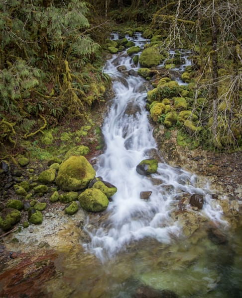 +mossy waterfall on Santiam