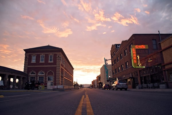 Photograph of Downtown Livingston Sunrise