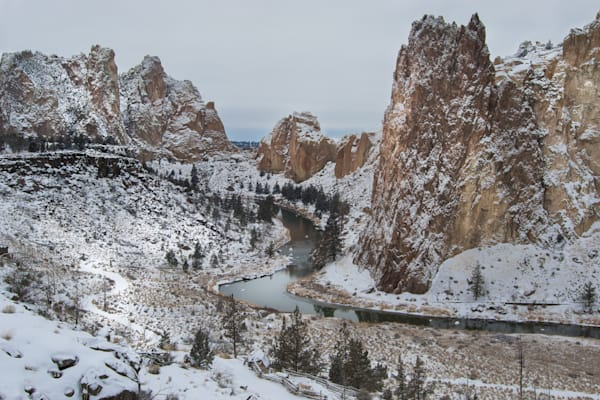 Smith Rock Snowdusting Photography Art by Barb Gonzalez Photography
