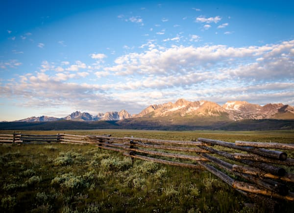 Sunrise Over Sawtooths   Stanley Idaho Photography Art | Barb Gonzalez Photography