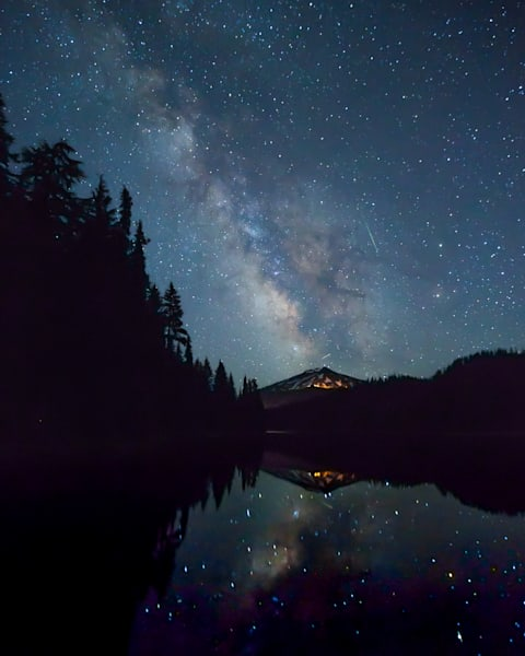 Milky Way Over Mt. Bachelor Photography Art   Barb Gonzalez Photography