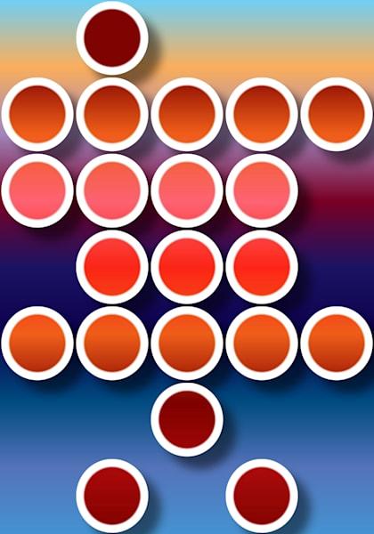 Red And Blue Geometrical Art   Irena Orlov Art